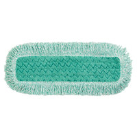 Rubbermaid FGQ41800GR00 HYGEN 18 inch Green Microfiber Fringed Dust Mop Pad