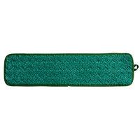 Rubbermaid FGQ41200GR00 HYGEN 18 inch Green Microfiber Dust Mop Pad