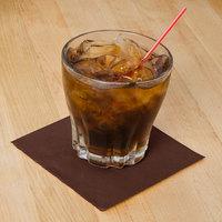 Hoffmaster 180354 Chocolate Brown Beverage / Cocktail Napkin - 250/Pack