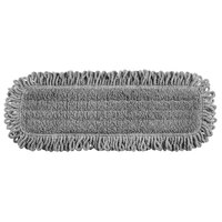 Rubbermaid 1867397 HYGEN Pulse Executive Series 18 inch Gray Microfiber Fringed Dust Mop Pad