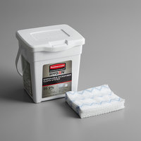 Rubbermaid 1928756 HYGEN White Disposable Microfiber Cloth and Charging Tub Starter Kit