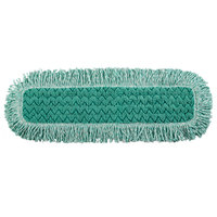 Rubbermaid FGQ42600GR00 HYGEN 24 inch Green Microfiber Fringed Dust Mop Pad