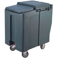 Cambro ICS125T191 SlidingLid Granite Gray Portable Ice Bin - 125 lb. Capacity Tall Model