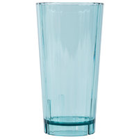 Cambro HT22CW196 Camwear Huntington 22 oz. Azure Blue Customizable Plastic Tumbler - 36/Case