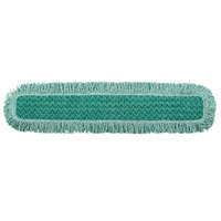 Rubbermaid FGQ43800GR00 HYGEN 36 inch Green Microfiber Fringed Dust Mop Pad