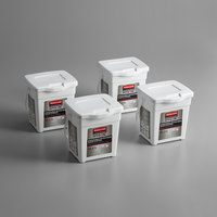 Rubbermaid 1822351 HYGEN White Disposable Microfiber Cloth Charging Tub   - 4/Pack