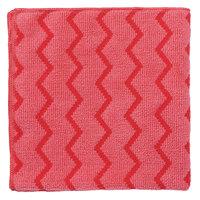 Rubbermaid FGQ62000RD00 HYGEN 16 inch x 16 inch Red Microfiber Cloth - 12/Pack