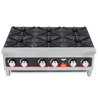 Vollrath 40738 6 Burner Counter Top Hot Plate / Range Natural / LP Gas
