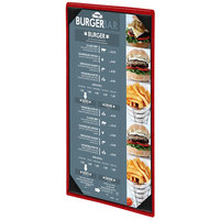 Menu Solutions 810BA Slim Line 4 1/4 inch x 11 inch Customizable 1 View Menu Cover