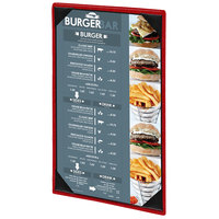 Menu Solutions 810B Slim Line 5 1/2 inch x 11 inch Customizable 1 View Menu Cover