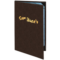 Menu Solutions 820B Slim Line 5 1/2 inch x 11 inch Customizable 2 View Menu Cover