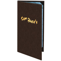 Menu Solutions 820BA Slim Line 4 1/4 inch x 11 inch Customizable 2 View Menu Cover