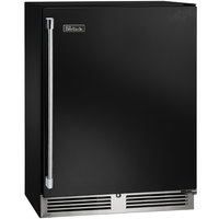 Perlick HD24WS-B 24 inch Black Shallow Depth Single Door Undercounter Wine Refrigerator with Floor Rack