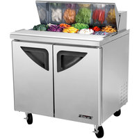 Turbo Air TST-36SD 36 inch 2 Door Refrigerated Sandwich Prep Table