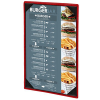 Menu Solutions 810D Slim Line 8 1/2 inch x 14 inch Customizable 1 View Menu Cover