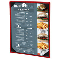 Menu Solutions 810C Slim Line 8 1/2 inch x 11 inch Customizable 1 View Menu Cover