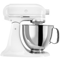 KitchenAid KSM150PSWW White on White Artisan Series 5 Qt. Countertop Mixer