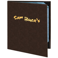 Menu Solutions 820C Slim Line 8 1/2 inch x 11 inch Customizable 2 View Menu Cover