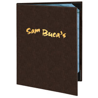 Menu Solutions 820D Slim Line 8 1/2 inch x 14 inch Customizable 2 View Menu Cover