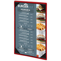 Menu Solutions 810A Slim Line 5 1/2 inch x 8 1/2 inch Customizable 1 View Menu Cover