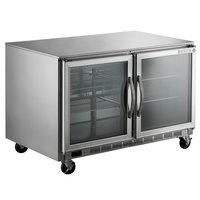 Beverage-Air UCR48AHC-25-ADA 48 inch Glass Door Undercounter Refrigerator