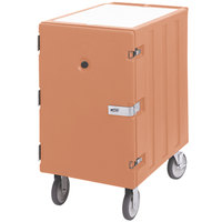 Cambro 1826LBCSP157 Camcart Coffee Beige Single Compartment Mobile Cart for 18 inch x 26 inch Food Storage Boxes - With Security Package
