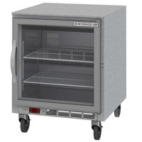 Beverage-Air UCR27AHC-25-ADA 27 inch Undercounter Refrigerator with Glass Door and LED Lighting