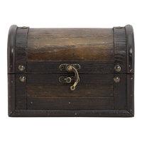 American Metalcraft MCBPBOXAN Securit 6 inch x 4 inch Wooden Treasure Box Bill Presenter