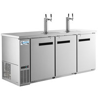 Avantco UDD-378-HC-S Stainless Steel Kegerator / Beer Dispenser with 2 Double Tap Towers - (4) 1/2 Keg Capacity