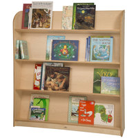 Whitney Brothers WB1566 47 1/4 inch x 10 inch x 49 11/16 inch Single-Sided Wood Library Shelving