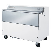 Beverage-Air SMF58-W-02 58 inch White 1-Sided Forced Air Milk Cooler with Stainless Steel Interior