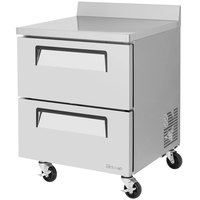 Turbo Air TWR28SD-D2 Super Deluxe 27 inch Worktop Refrigerator with Two Drawers