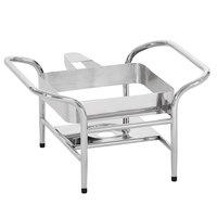Vollrath 4644055 Mirage® 16 1/2 inch x 16 1/8 inch Stainless Steel Induction Chafer Stand with Fuel Holder