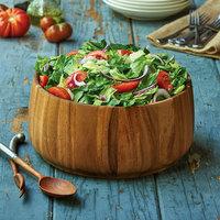12 1/2 inch Acacia Wood Wide Base Salad Bowl