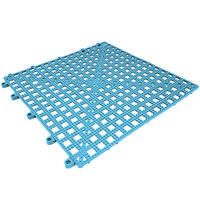Cactus Mat 2554-PBT Dri-Dek 12 inch x 12 inch Pool Blue Vinyl Interlocking Drainage Floor Tile - 9/16 inch Thick