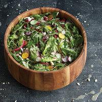 14 1/4 inch Acacia Wood Wide Base Salad Bowl