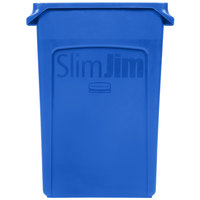 Rubbermaid 1956185 23 Gallon Slim Jim Blue Trash Can