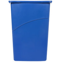 Rubbermaid 354000 Slim Jim Wall Blue Wall Hugger Trash Can - 23 Gallon (FG354000BLUE)