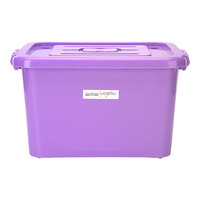Mercer Culinary M33064 16 1/2 inch x 14 1/8 inch x 11 1/8 inch Purple Allergen-Safe Storage Tote with Lid