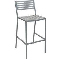 BFM Seating SU1800BSG Daytona Powder Steel Gray Bar Height Side Chair
