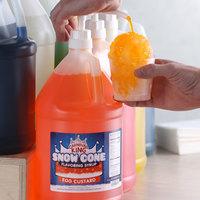 Carnival King 1 Gallon Egg Custard Snow Cone Flavoring Syrup - 4/Case