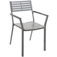 BFM Seating SU1801CSG Daytona Powder Steel Gray Arm Chair