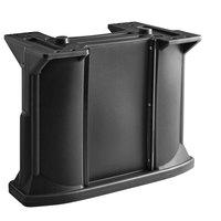 Cambro C10011110 Black Versa Bar / Table Leg Kit with (1) Standard Height Leg / (2) Decor Panel Rails