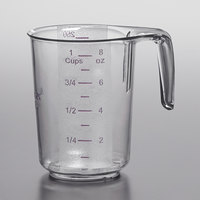 Choice 1 Cup Allergen Free Clear Plastic Measuring Cup with Purple Print and Gradations