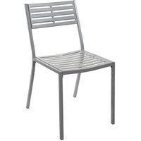BFM Seating SU1800CSG Daytona Powder Steel Gray Side Chair