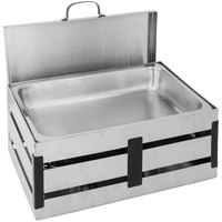 Walco CR8B Crate 8 Qt. Stainless Steel Chafer
