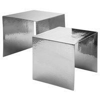 Walco VS2326 Ironstone Hammered Stainless Steel 2-Piece Riser Set