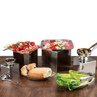 Walco VS1120 Ironstone Hammered Stainless Steel 4-Piece Riser Set