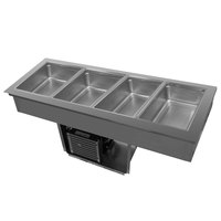 Delfield 8159-EFP Four Pan Drop In LiquiTec Refrigerated Cold Food Well