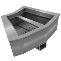 Delfield N8144-BRP Two Pan Curved Drop-In Refrigerated Cold Food Well